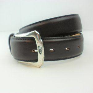 Justin Western Burgundy Leather Belt